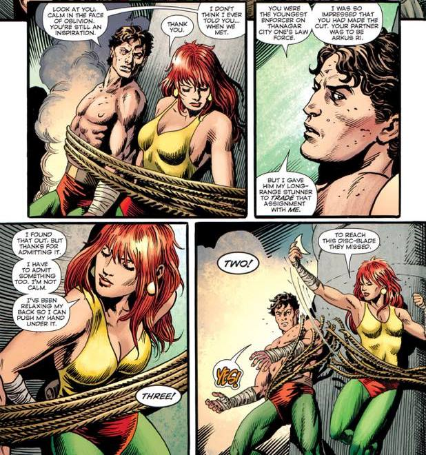 Every single thing about this scene is perfect. Copyright: DC Comics.