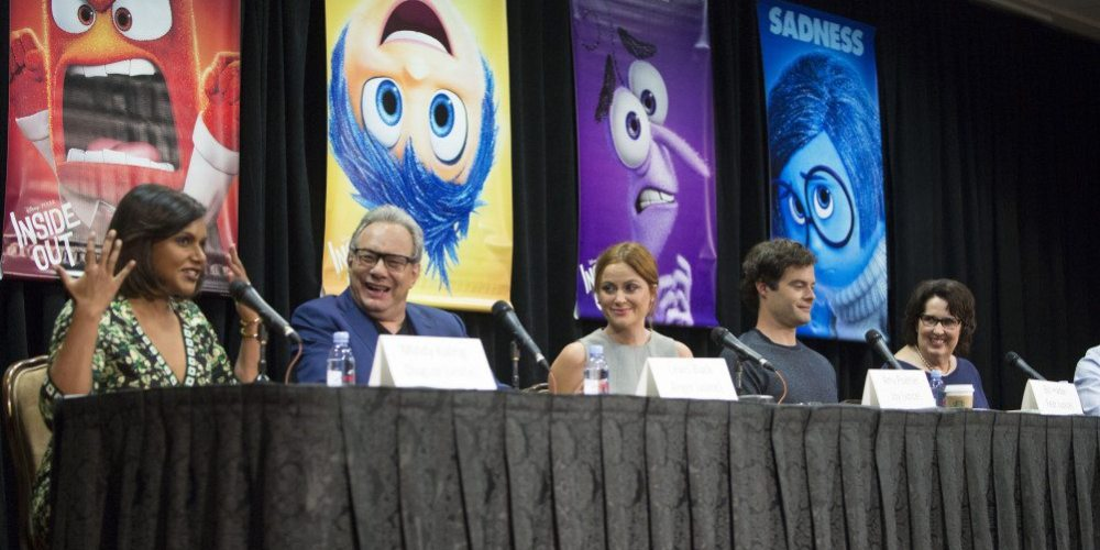 INSIDE OUT Press Conference  with Mindy Kaling, Lewis Black, Amy Poehler, Bill Hader and Phyllis Smith moderated by Scott Mantz.