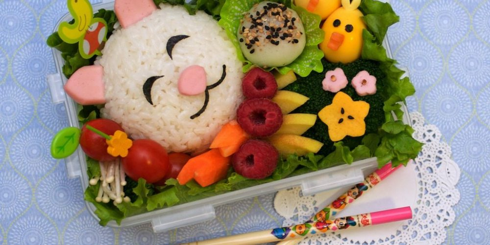 Bento boxes are a great way to show your kids you care. And it definitely doesn't need to be this fancy. Cat and Birdies Bento by Flickr user megan. CC by 2.0