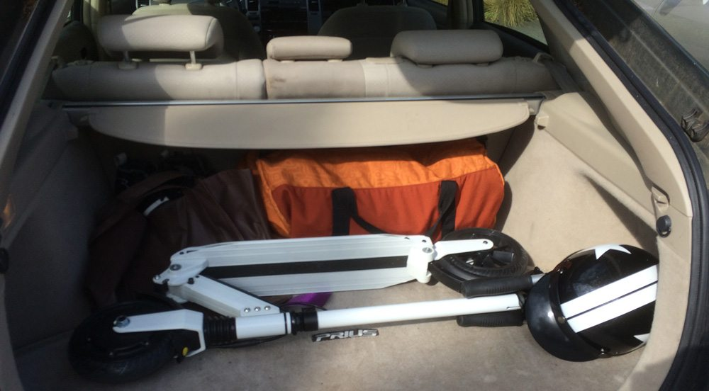 Booster in trunk