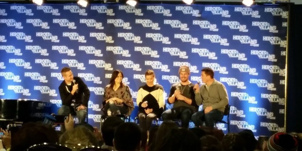Arrow panel at HVFF NY 2016.