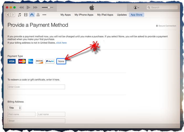 Why «NONE» option is NOT available at Apple ID payment methods Fix