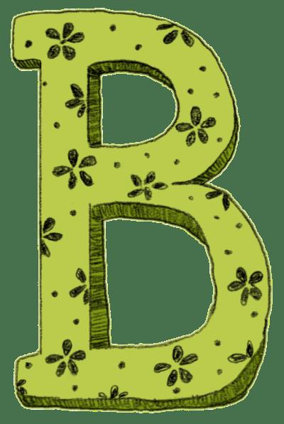 Sketch Letter B | Geek Girl Life