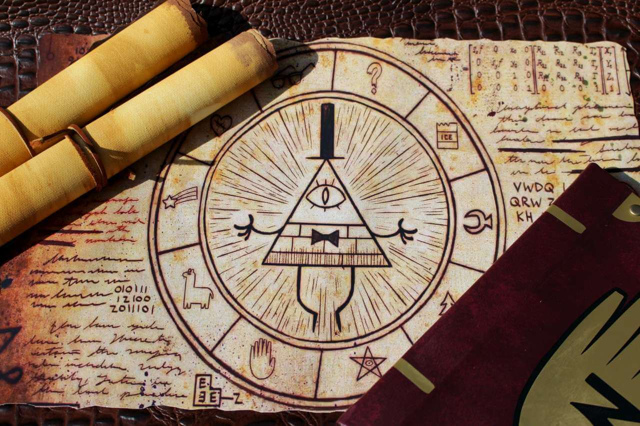 Gravity Falls Wallpaper Trust No One Gravity Falls Inspired Magical Bill Cipher Scroll