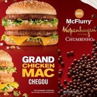 McDonald's lança Grand Chicken Mac, McFlurry Chumbinho e traz Grand Big Mac de volta