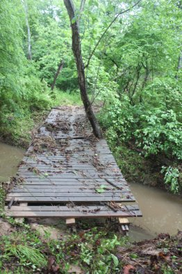 Another look one of the bridges the storm moved.