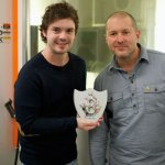 Jonathan Ive Gets a Golden Blue Peter Badge