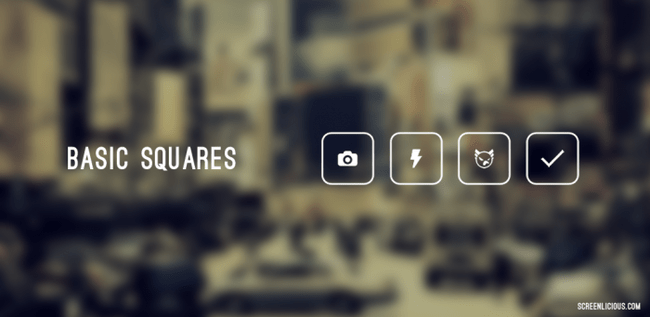 basic squares icon pack