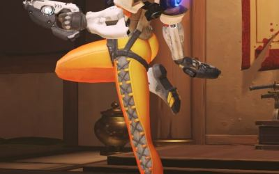 Tracer from Overwatch get a new possibly even Sexier Pose