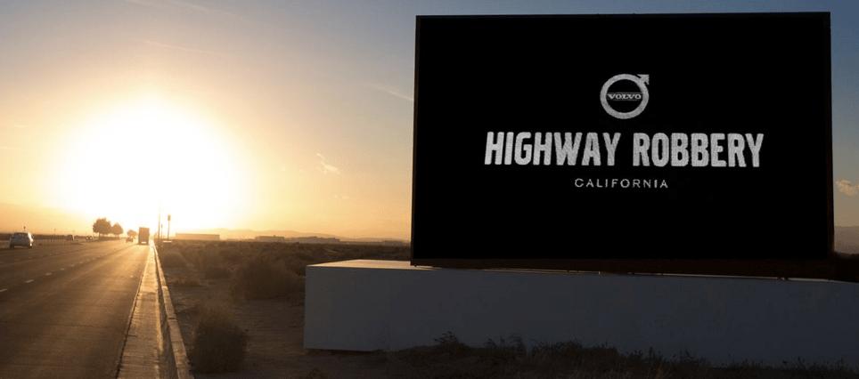 Volvo highway robbery XC90