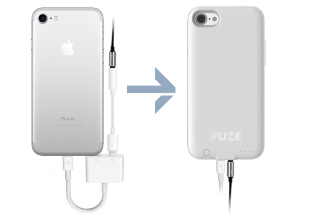 Fuze case brings a headphone jack to the iPhone 7