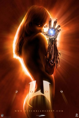 At right is the teaser poster for Witchblade , the live-action movie ...