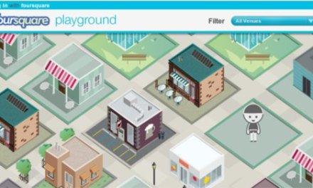 Foursquare Playground, un mapa tipo SimCity en HTML5 con lugares reales