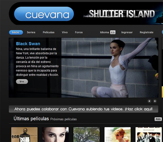 Cuevana: Películas y series en calidad DVD con acento argentino