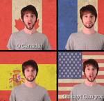 Mashup de los himnos nacionales de varios países, incluído el de España