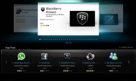 App World de Blackberry con categorización de contenidos