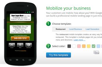 Google Mobile Sites: Genera tu sitio móvil en pocos pasos