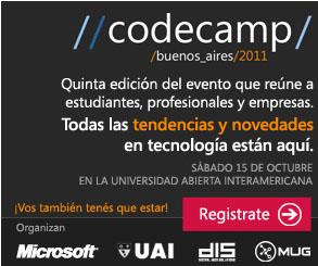 CodecampBA 2011  y Jornada de Arquitectura del Software /BUE