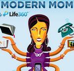 Las madres modernas aman los smarthpones