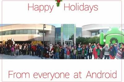 Felices Fiestas nos desea el equipo desarrollador de Android