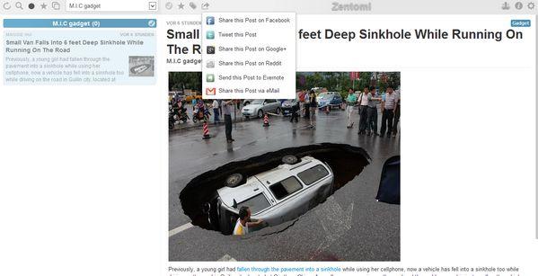 Zentoni Reader, nuevo lector de feed de noticias basado en Google Reader