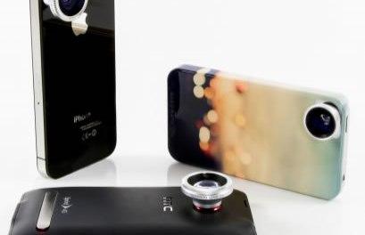 4 Lentes para tu teléfono inteligente  iPhone, Android o Blackberry