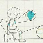 Animación que muestra cómo mejorar las postura cuando trabajan en la oficina