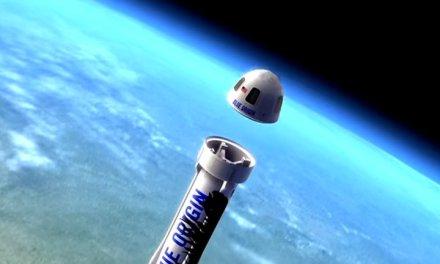 Espectaculares imágenes del vuelo de la nave de Blue Origin en vídeo con capturas desde la nave y drones