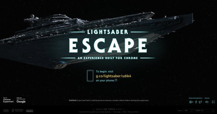 lightsaver-escape-chrome-experiment