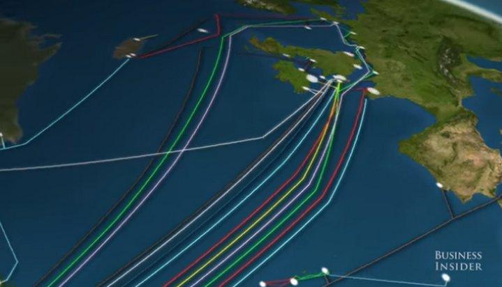 Mapa animado muestra toda la red de cables submarinos usados para transmitir data vía Internet