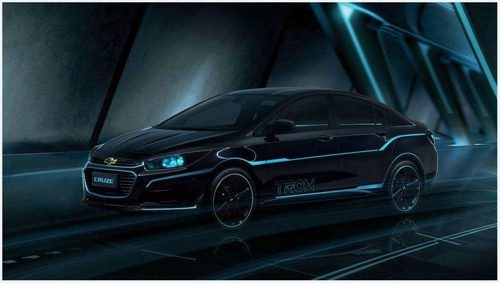 En el Auto Show de Pekín Chevrolet muestra su #ChevyCruze 2016 de exhibición inspirado en Tron: Legacy
