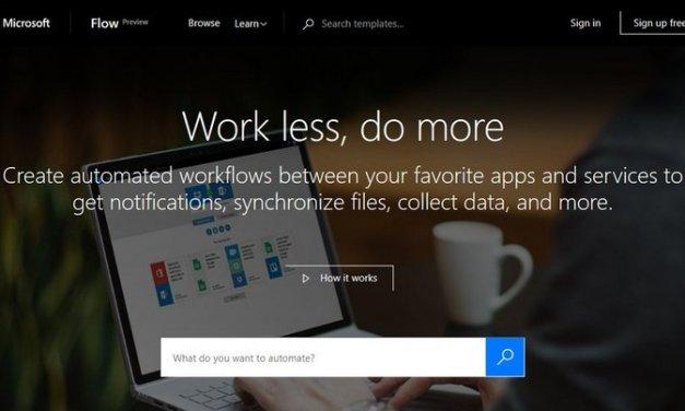 Microsoft creó un servicio llamado Flow para automatizar tareas en línea, similar a IFTTT