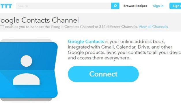 IFTTT introduce el canal de Contactos de Google