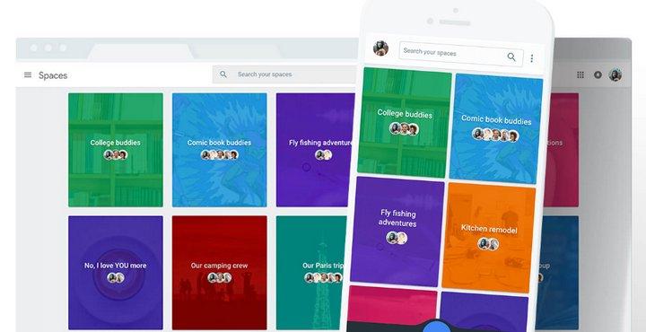 Google lanza Spaces, app para compartir diferentes cosas entre usuarios de un grupo (Android, iOS, web y web móvil)