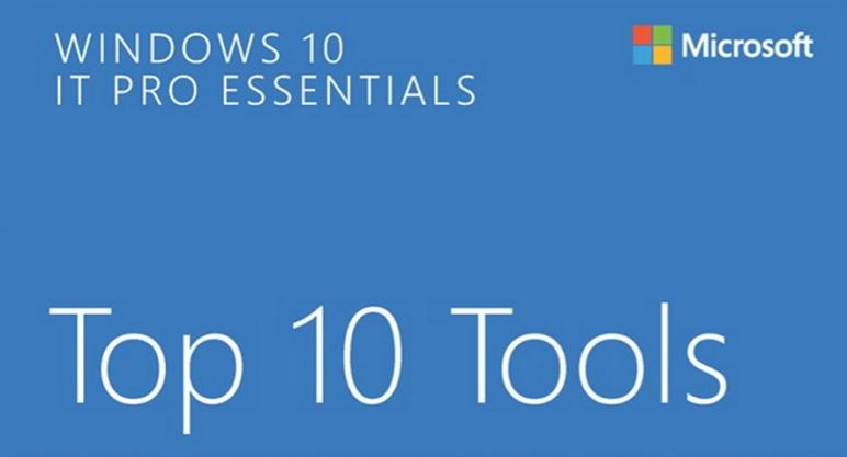eBook Gratis: Windows 10 IT Pro Essentials: Top 10 Tools