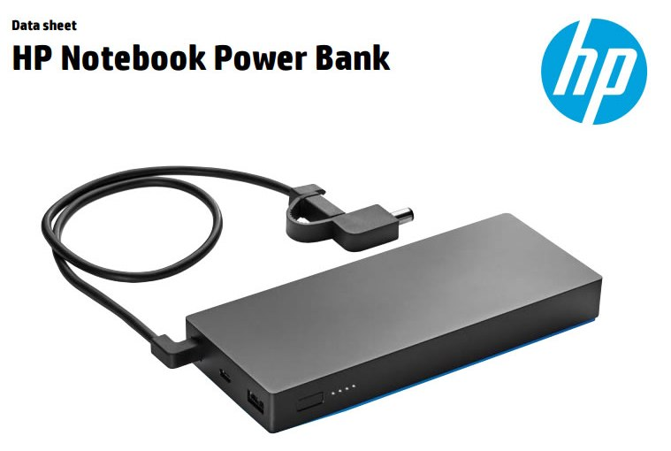 HP Notebook Power Bank: Batería externa para compu+2 disp.USB