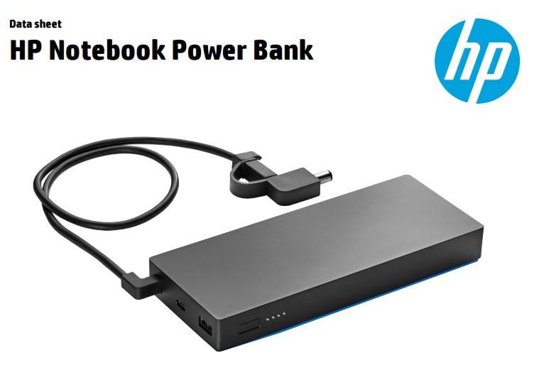 HP Notebook Power Bank: Batería externa para compu+2 disp.USB