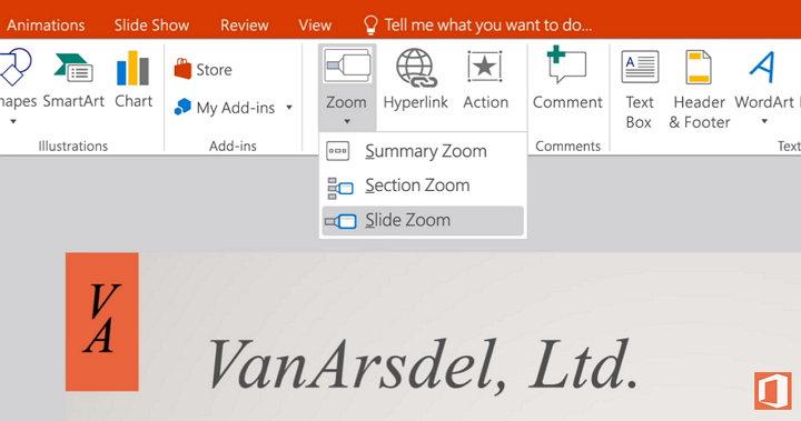 Microsoft PowerPoint Zoom