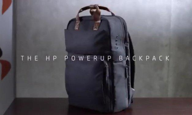 HP Powerup Backpack, mochila con batería que puede cargar laptop, tabletas y smartphones