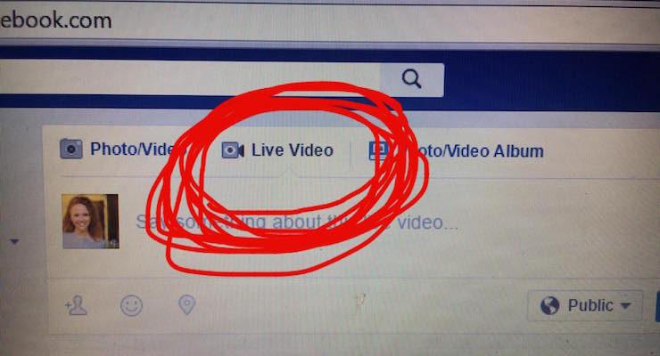 Facebook Live - Desktop - Laptop