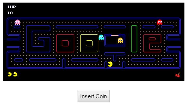 Huevos de Pascua de Google - Pacman