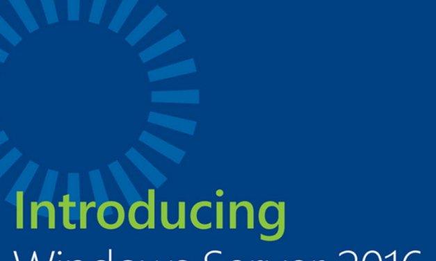 Introducing Windows Server 2016, eBook gratis publicado por Microsoft