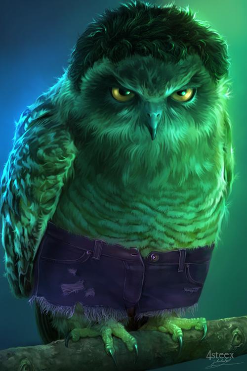 Fake Quotes Wallpaper Avengers As Owls Fan Art