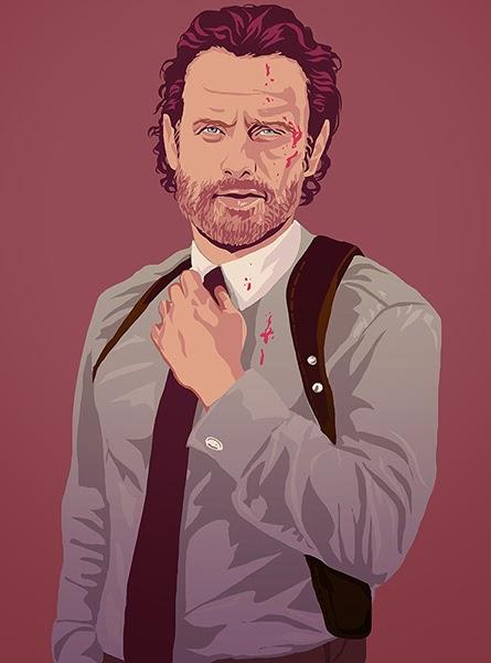 Grand Theft Auto Wallpaper Girl Retro Walking Dead Fan Art