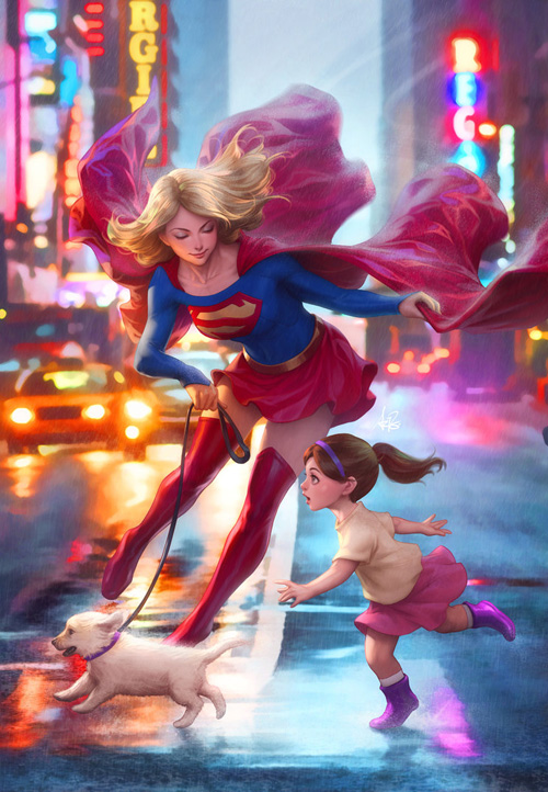 Anime Pet Wallpaper Supergirl Fan Art Covers