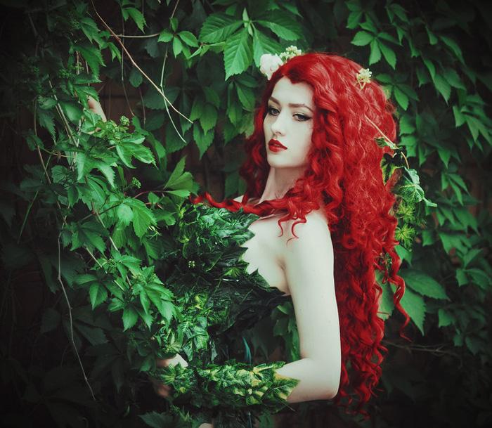 Wallpaper Girl Nerd Poison Ivy Cosplay