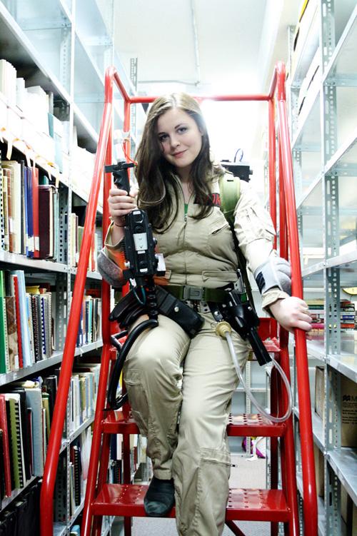 Geek Girl Wallpaper Ghostbuster Cosplay