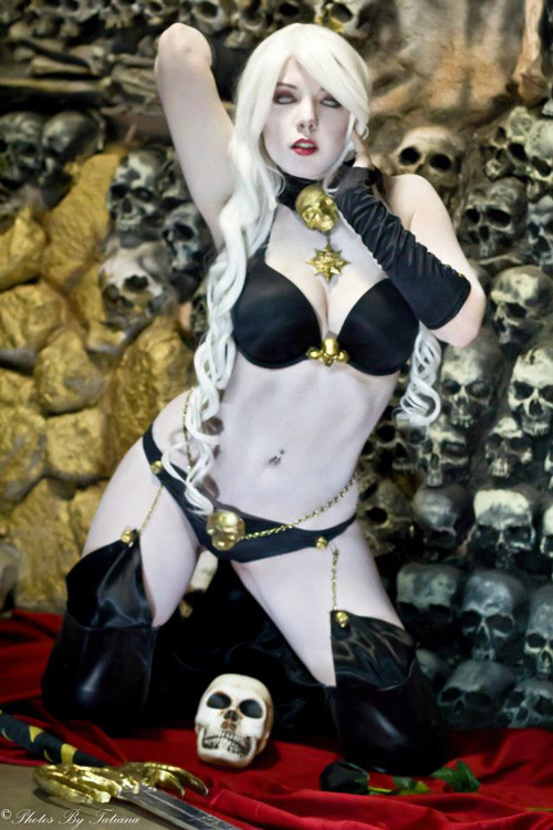 Wallpaper Girl Nerd Lady Death Cosplay