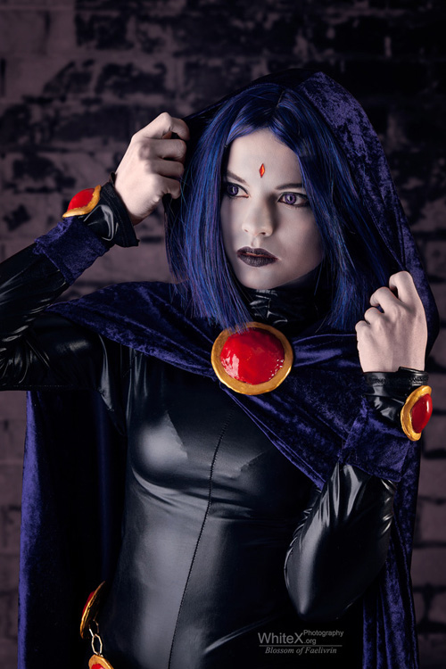 Sad Girl With Rose Wallpaper Raven From Teen Titans Cosplay