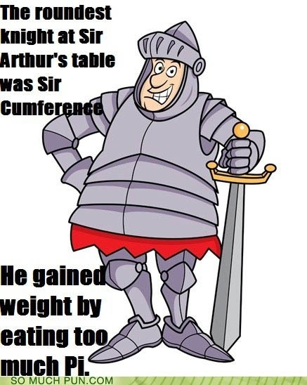 The roundest knight at Camelot?